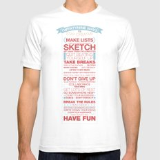 29 Ways to Stay Creative White Mens Fitted Tee MEDIUM
