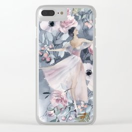 Ballerina and flowers n.4 Clear iPhone Case
