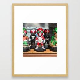 Japan Toy Superhero Framed Art Print