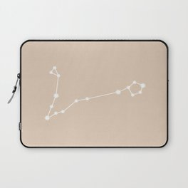 Pisces Zodiac Constellation - Warm Neutral Laptop Sleeve