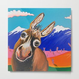 Happy Donkey Metal Print