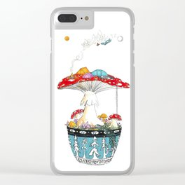 Fungi Nights - Mushroom Forest Tent Camping Clear iPhone Case