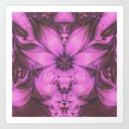 Pretty in Pink Fractal Flower Star-Shaped Petunias Art Print