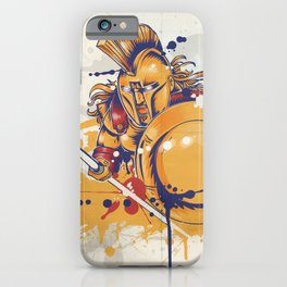 roman warrior with the trident iPhone Case