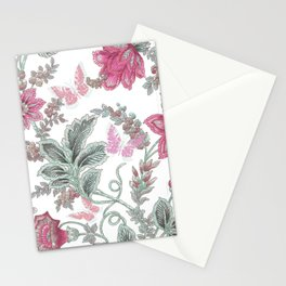 butterfly field red Stationery Cards