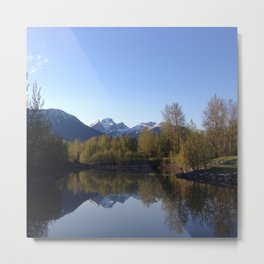 Three Sisters Reflection Metal Print