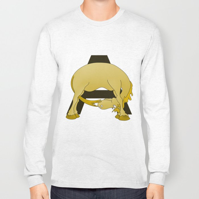 Pony Monogram Letter A Long Sleeve T-shirt