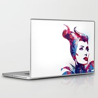 maleficent Laptop & iPad Skins featuring Maleficent by lauramaahs