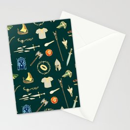 Lord of the pattern green Stationery Cards