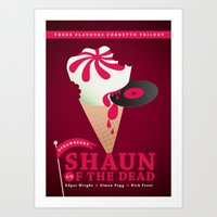 shaun of the dead Art Prints featuring Shaun of the Dead by ellis