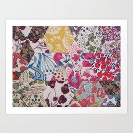 Liberty Patchwork Sewing Art Print