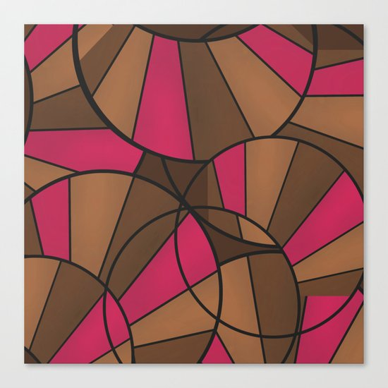 Brown pink pattern abstract . Canvas Print