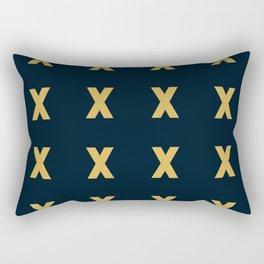 Kiss grid pattern Rectangular Pillow