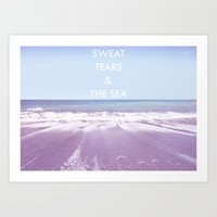 salt water Art Prints featuring Salt Water by Hannah Badger