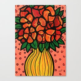Cheerful Bouquet of Flowers Canvas Print