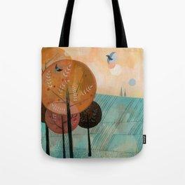 Trees & Birds Tote Bag