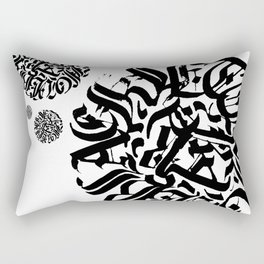 Circular Abstract Type Rectangular Pillow