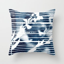 Fragments of the Past (2), art print, collage, blue print, wall art, wall decor, home decor Throw Pillow