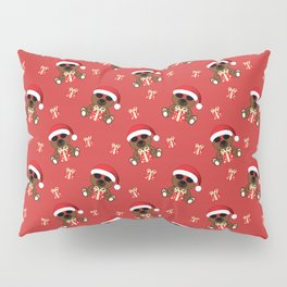 Cool Santa Bear with sunglasses and Christmas gifts pattern Pillow Sham