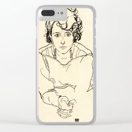 Egon Schiele -Seated Woman Clear iPhone Case