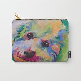 Bichon Poodle Pet Portrait Carry-All Pouch