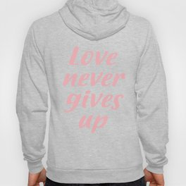 Love never gives up Hoody