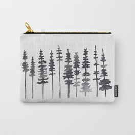 Watercolor Tree Silhouette Carry-All Pouch