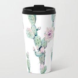 Arizona Desert Rose Cactus Pattern Travel Mug