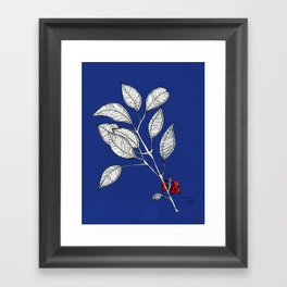 lomboy blue Framed Art Print