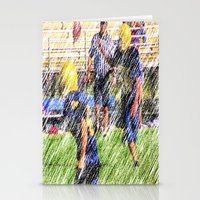 football Stationery Cards featuring Football by Artist31