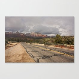 road through Sedona in Winter Canvas Print