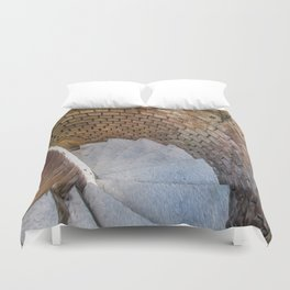 A Downward Spiral in Time Duvet Cover