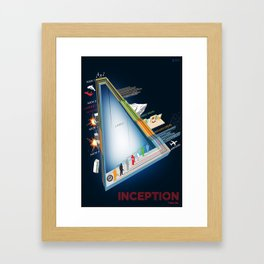 Inception Timeline Framed Art Print