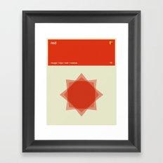 Color Print - Red Framed Art Print