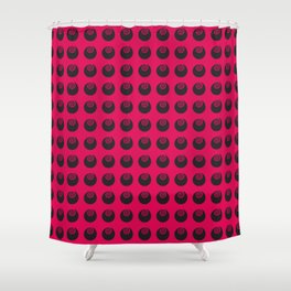 funny colorful vector graphic Shower Curtain