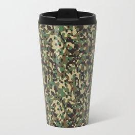 Green, Tan, Beige, Black Camouflage Travel Mug