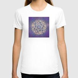 Mandala Chakra Copper and Purple Crown Chakra T-shirt