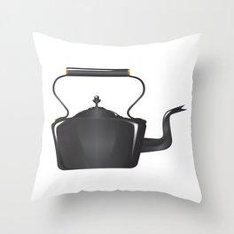 Victorian Cast Iron Kettle Throw Pillow