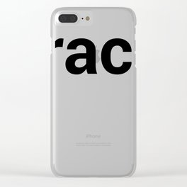 track Clear iPhone Case