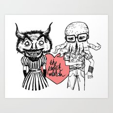 the perfect match Art Print