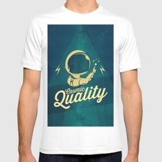 Cosmic Quality Mens Fitted Tee MEDIUM White