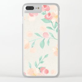 Seamless Pastel Magical Plant Floral Pattern Cute Whimsical Clear iPhone Case