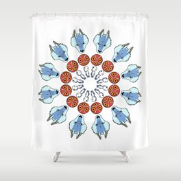 Mononoke Mandala Shower Curtain