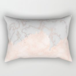 Rosette Marble Rectangular Pillow