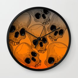 Multitude of Skulls Wall Clock