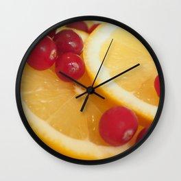 Cranberry and Lemon Wall Clock