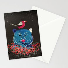 Bullfinch and bear Stationery Cards