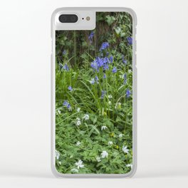 Wild Flower Wood Clear iPhone Case