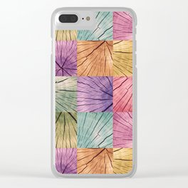 Tree Trunks Pattern Clear iPhone Case