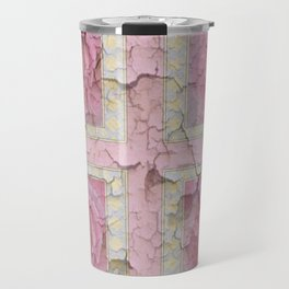 SHABBY CHIC  ROSE PINK  GARDEN ROSE PATTERN Travel Mug